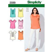 Buy Simplicity Tops Sewing Leaflet, 2599, D5 Online at johnlewis.com