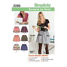 Buy Simplicity Learn to Sew Skirts Sewing Pattern, 2286 Online at johnlewis.com