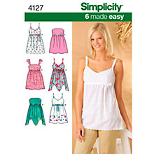 Buy Simplicity Tops Sewing Leaflet, 4127, P5 Online at johnlewis.com