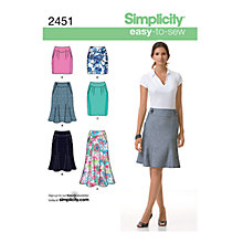 Buy Simplicity Easy-to-Sew Skirts Dressmaking Leaflet, 2451 Online at johnlewis.com