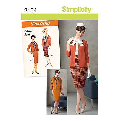 1960s Sewing Patterns- Dresses, Tops, Pants etc Simplicity 1960s Smart Outfit Sewing Pattern 2154 £4.47 AT vintagedancer.com