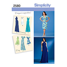 Buy Simplicity Dress & Gown Sewing Pattern, 2580 Online at johnlewis.com