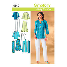 Buy Simplicity Easy to Sew Casual Outfit Sewing Pattern, 4149 Online at johnlewis.com