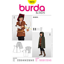 Buy Burda Kids' Robin Hood Costume Sewing Pattern, B9472 Online at johnlewis.com