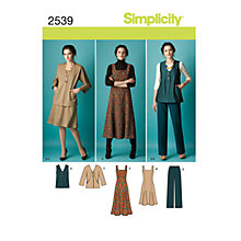 Buy Simplicity Outfit Sewing Pattern, 2539 Online at johnlewis.com