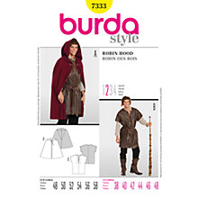 Buy Burda Mens' Robin Hood Costume Sewing Pattern, B7333 Online at johnlewis.com