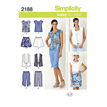 Buy Simplicity Easy to Sew Casual Outfit Sewing Pattern, 2188 Online at johnlewis.com