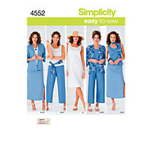 Buy Simplicity Easy to Sew Casual Outfit Sewing Pattern, 4552 Online at johnlewis.com
