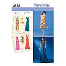 Buy Simplicity Misses & Miss Occasion Dresses Sewing Pattern, 2582 Online at johnlewis.com