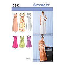 Buy Simplicity Karen Z Occasion Dresses Sewing Pattern, 2692 Online at johnlewis.com