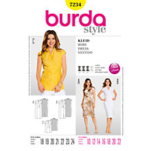 Buy Burda Womens'  Top and Dress Sewing Pattern, B7234 Online at johnlewis.com