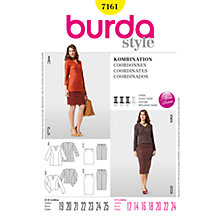 Buy Burda Womens' Two Piece Sewing Pattern, B7161 Online at johnlewis.com