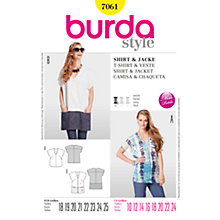 Buy Burda Womens' T-Shirt Sewing Pattern, B7061 Online at johnlewis.com