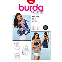 Buy Simplicity Burda Bag Sewing Pattern,  B7412 Online at johnlewis.com