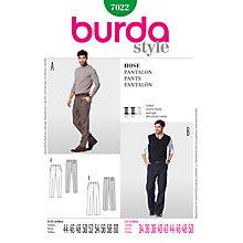 Buy Simplicity Burda Men's Trousers Sewing Pattern, B7022 Online at johnlewis.com