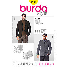 Buy Simplicity Burda Men's Jacket Sewing Pattern, B6993 Online at johnlewis.com