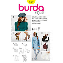 Buy Simplicity Burda Winter Accessories Sewing Pattern, B7037 Online at johnlewis.com