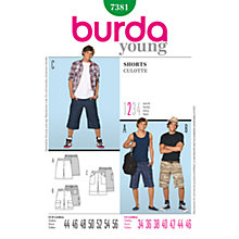Buy Simplicity Burda Men & Boys Shorts Sewing Pattern, 7381 Online at johnlewis.com