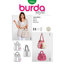 Buy Burda Craft Women's Handbag Sewing Pattern, 7264 Online at johnlewis.com