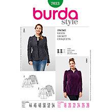 Buy Simplicity Burda Plus Size Jacket Sewing Pattern, B7033 Online at johnlewis.com