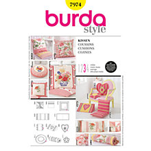 Buy Simplicity Burda Craft Cushions Sewing Pattern, 7974 Online at johnlewis.com