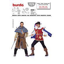 Buy Simplicity Burda Musketeer Costume Sewing Pattern, B7976 Online at johnlewis.com