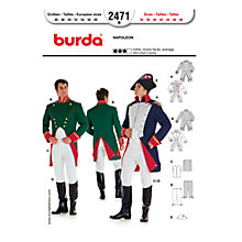 Buy Simplicity Burda Adult Napoleon Costume Sewing Pattern, B2471 Online at johnlewis.com