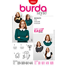 Buy Simplicity Burda Collar Sewing Pattern, B7021 Online at johnlewis.com