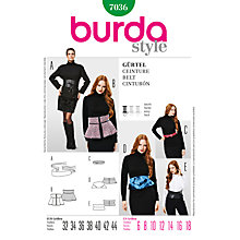 Buy Simplicity Burda Belt Sewing Pattern, B7036 Online at johnlewis.com