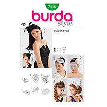 Buy Simplicity Burda Fascinator Craft Pattern, B7116 Online at johnlewis.com