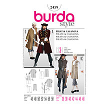 Buy Simplicity Burda Adult Pirate & Cassanova Costume Sewing Pattern, B2459 Online at johnlewis.com