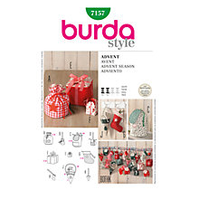 Buy Simplicity Burda Christmas Decorations Sewing Pattern, B7157 Online at johnlewis.com