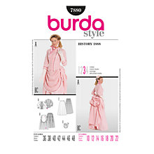 Buy Simplicity Burda Adult Historical Costume Sewing Pattern, B7880 Online at johnlewis.com