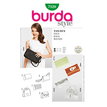 Buy Simplicity Burda Handbags Sewing Pattern, B7120 Online at johnlewis.com