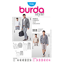 Buy Simplicity Burda Men's Suit Sewing Pattern, B7046 Online at johnlewis.com