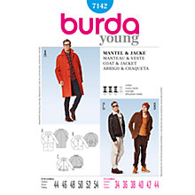 Buy Simplicity Burda Men's Coat Sewing Pattern, B7142 Online at johnlewis.com