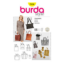 Buy Simplicity Burda Bags Sewing Pattern, B7158 Online at johnlewis.com