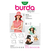 Buy Simplicity Burda Hats Sewing Pattern,  B7117 Online at johnlewis.com
