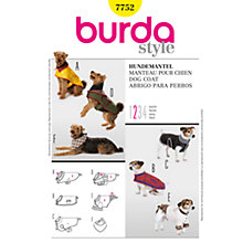 Buy Simplicity Burda Dog Coat Sewing Pattern, B7752 Online at johnlewis.com