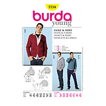 Buy Simplicity Burda Men's Jacket & Shirt Sewing Pattern, B7734 Online at johnlewis.com