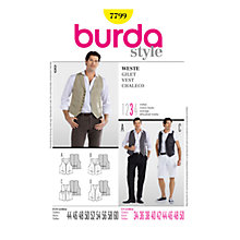 Buy Simplicity Burda Men's Waistcoat Sewing Pattern, B7799 Online at johnlewis.com