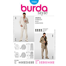 Buy Simplicity Burda Men's Coat Sewing Pattern, B7918 Online at johnlewis.com