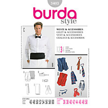 Buy Simplicity Burda Men's Vest Sewing Pattern, B3403 Online at johnlewis.com