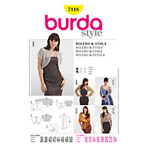 Buy Simplicity Burda Special Occasion Bolero & Stole Sewing Pattern, B7118 Online at johnlewis.com