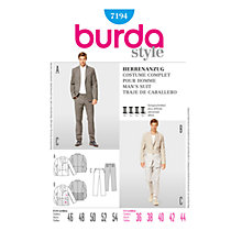 Buy Simplicity Burda Men's Suit Sewing Pattern, B7194 Online at johnlewis.com