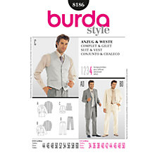 Buy Simplicity Burda Men's Suit Sewing Pattern, B8186 Online at johnlewis.com