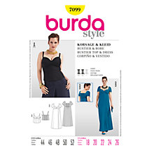 Buy Simplicity Burda Plus Sizes Bustier & Dress Sewing Pattern, B7099 Online at johnlewis.com