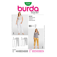 Buy Simplicity Burda Plus Sizes Trousers Sewing Pattern, B7244 Online at johnlewis.com