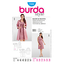 Buy Simplicity Burda Plus Size Dress & Jacket Sewing Pattern, B7108 Online at johnlewis.com