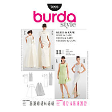 Buy Simplicity Burda Special Occasion Dress & Cape Sewing Pattern, B7093 Online at johnlewis.com